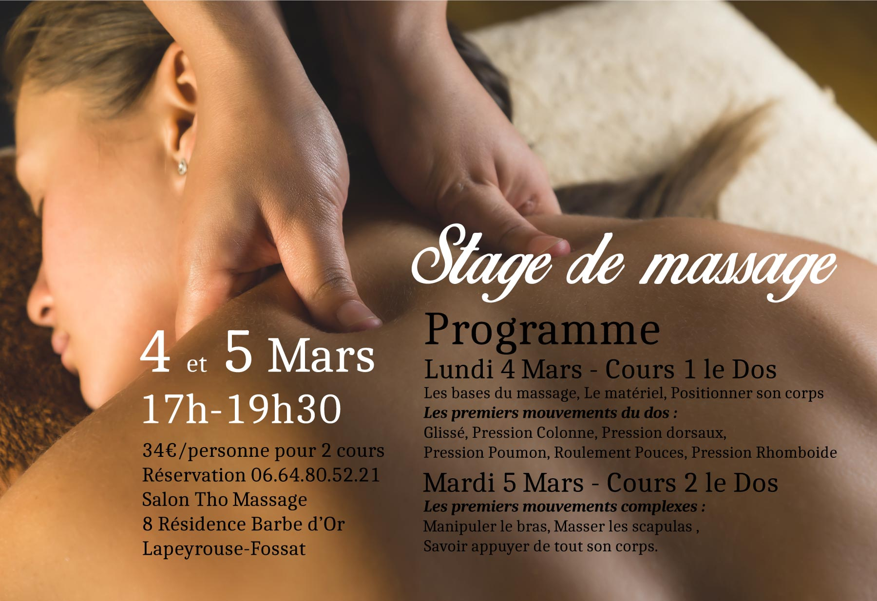 Stage de Massage